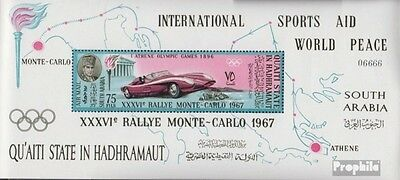 Aden - Qu´AITI State Block14A unmounted mint / never hinged 1967 rally Monte Car