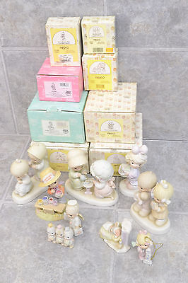 Lot of 9 Precious Moments Figurines: 8 w/ Boxes, 1 w/out Box