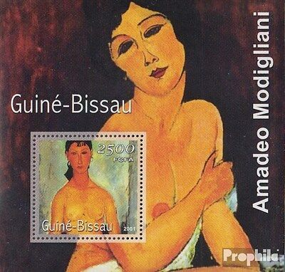 Guinea-Bissau Block346 unmounted mint / never hinged 2001 Paintings