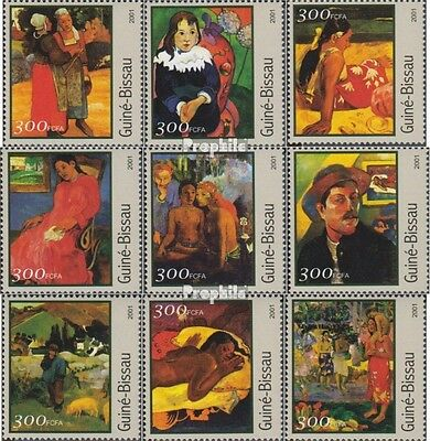Guinea-Bissau 1642-1650 unmounted mint / never hinged 2001 Paintings