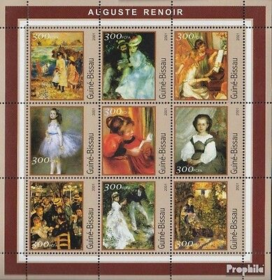 Guinea-Bissau 1633-1641 Sheetlet unmounted mint / never hinged 2001 Picasso-Pain