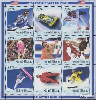 Guinea-Bissau 1402-1410 Sheetlet unmounted mint / never hinged 2001 Olympics Win