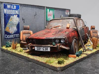 "1/18 Rover 3500 V8 Barn Find Diorama Code 3 Junk Yard  ""andrew Green"" P6"