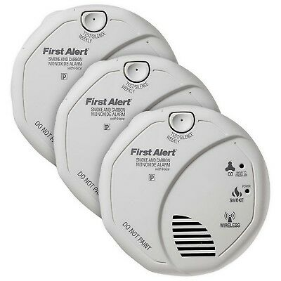 New First Alert Smoke and Carbon Monoxide Alarm 3 pack with Batteries