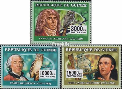 Guinea 4281-4283 unmounted mint / never hinged 2006 Naturalists