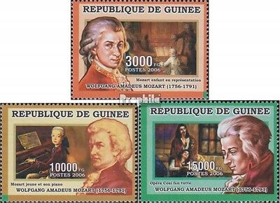 Guinea 4275-4277 unmounted mint / never hinged 2006 Mozart