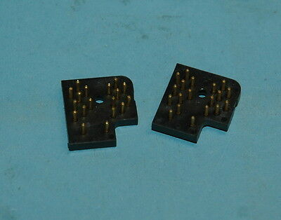 2x Sperry CS-332 Beckman CS-732 Cinch Panaplex neon display sockets