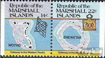 Marshall-Islands 40/41 D Couple unmounted mint / never hinged 1985 Inselkarten