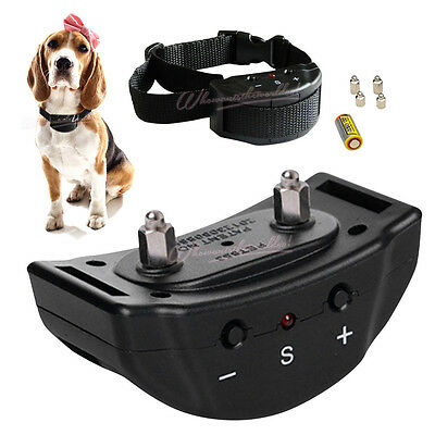 Anti Electric Bark Dog Collar Stop Barking Control Pet Collar Remote Training