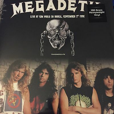 Megadeth 'live At San Paolo Do Brazil 1995' New 2017 Vinyl Lp - New And Sealed