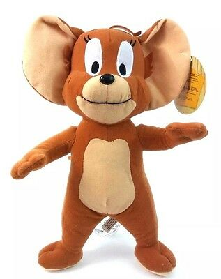 """TOM AND JERRY 13"""" Stuffed Animal Plush Brown JERRY MOUSE Toy Factory NWT"""