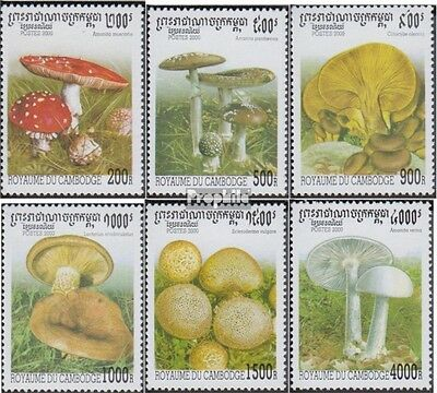 Cambodia 2061-2066 unmounted mint / never hinged 2000 Mushrooms