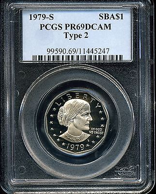 1979-S SBA$1 Type 2 Susan B. Anthony Dollar PR69 DCAM PCGS 11445247