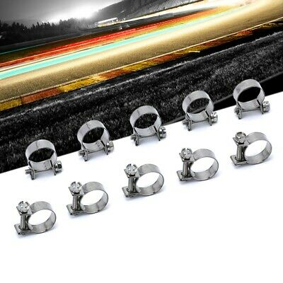 10x HPS (14mm-16mm) Stainless Steel Fuel Injection Hose Clamp SAE 15