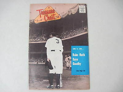 Treasure Chest Vol.20 #16 April 8, 1965 Baseball Great Babe Ruth Says Goodbye