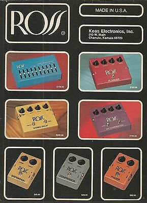 Ross (Distortion, Phaser, Stereo Delay, Flanger, Equalizer) Effects Print Ad