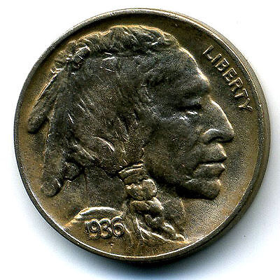 1936 D Gem BU Buffalo Indian Head Nickel Toned Unc Uncirculated Mint State Coin