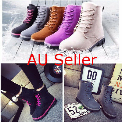 2017 New Fashion Womens Ankle Boot Fur Winter Warm Thicken Shoes Snow Boots AU