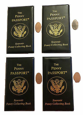 4-Pack of Penny Passport Elongated Penny Book Album New With Four Pennies