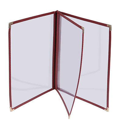 "30pcs 8-1/2""x14"" Clear Restaurant Menu Cover Folder 6 View 27815"