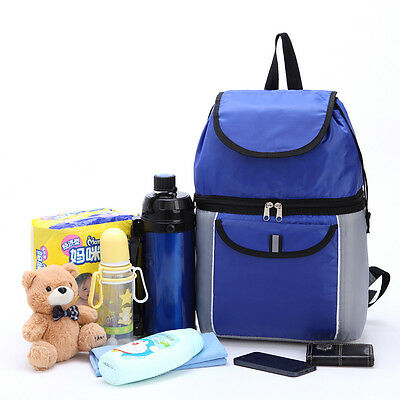 Waterproof Picnic Backpack Thermal Lunch Bag Cooler Weekender Food Container New