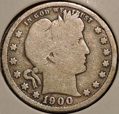 Barber Quarter - 1900-S - Historic Silver! - $1 Unlimited Shipping