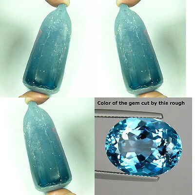 VVS 300+ cts Good Quality Sea Blue Aquamarine Color  Lab Spinel Rough N69