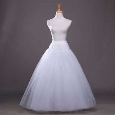 Beauty 3 Layer Bridal Petticoat Crinoline Long Wedding Dress Underskirt White