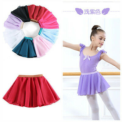 New Child Chiffon Ballet Tutu Dance Skirt Skate Wrap Scarf more color Choose B3
