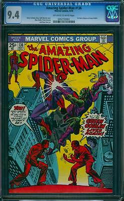 Amazing Spider-Man # 136  The Green Goblin Lives Again !  CGC 9.4  scarce book !