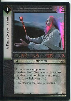 Lord Of The Rings CCG Foil Card RotEL 3.R52 A Fell Voice On The Air
