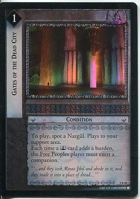 Lord Of The Rings CCG Foil Card RotEL 3.R81 Gates Of The Dead City