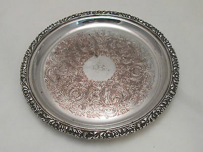 A Fine Small Silver Plated Tray - Engraved  - c1900