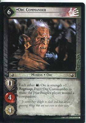 Lord Of The Rings CCG Card RotEL 3.R64 Orc Commander