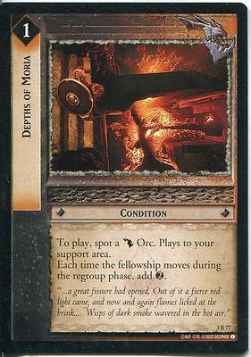 Lord Of The Rings CCG Card RotEL 3.R77 Depths Of Moria