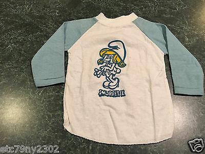 Vintage Yellow SMURFETTE Infant Long Sleeve Shirt Size 3T **Never Worn** RARE