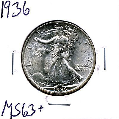 1936 50C Walking Liberty Half Dollar in Select Uncirculated Condition