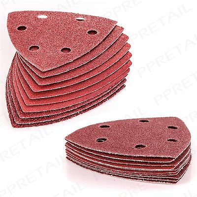 10/20/40/100/250 PACK VELCRO DETAIL SANDING SHEETS Mixed Grit Delta Triangles