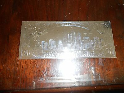 Nice  Liberia  Sept 11  In Memory 20 Dollars  Silver Coloured Bank Note