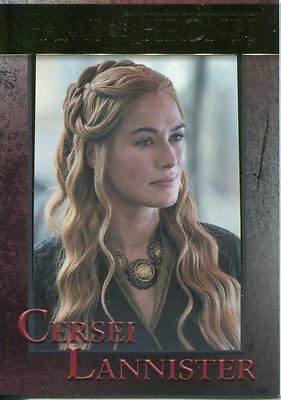 Game Of Thrones Season 5 Gold Parallel Base Card #46 Queen Cersei Lannister