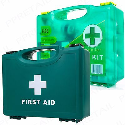 SMALL HSE FIRST AID HARD BOX Wall Mounted Pack 1-10 Person Warehouse/Office Kit
