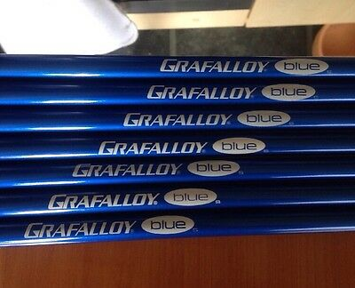 GRAFALLOY BLUE Stiff flex iron shafts 4 to PW NEW uncut