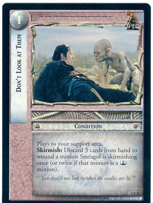 Lord Of The Rings CCG Card EoF 6.R39 Don't Look At Them
