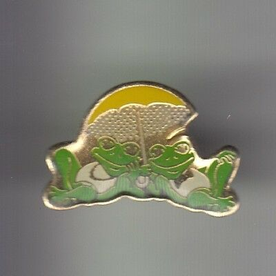 Rare Pins Pin's .. Animal Grenouille Frog Couple Soleil Parasol Ete Summer~Cy