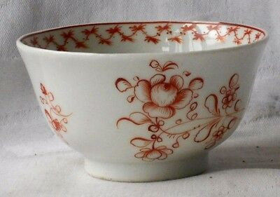 C18Th Chinese Tea Bowl With Flowers And A Border