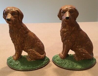 "Midwest Golden Retriever Lab Dogs Bookends or Doorstops 7""Tall Very Good!"