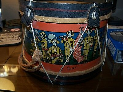 Morton Converse Toy Drum 1898 - 1902 Boys dressed as soldiers Spanish American