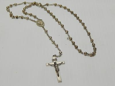 Antique / Vintage Sterling Silver Rosary / Necklace - Nice Details Xlnt Gift