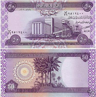 50 New Iraqi Dinar (Uncirculated) Reg W/us Treasury.for Collection