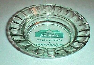 Howard Johnson's Restaurants, Motor Lodges ASHTRAY Glass